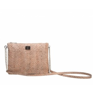 Kork Gold Clutch - Slange look